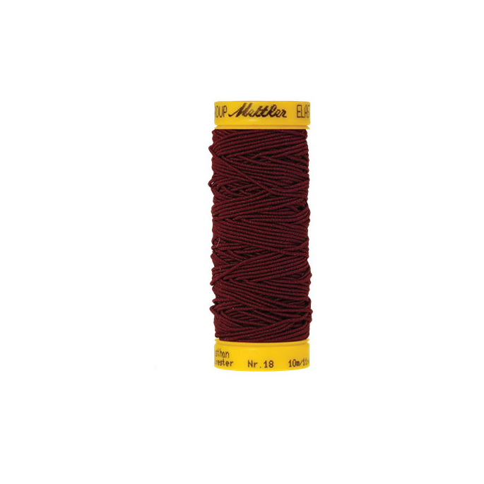 Mettler Elastic Sewing Thread Burgundy (10m)