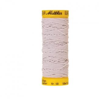 Fil à coudre élastique Mettler 1000m Blanc (10m)