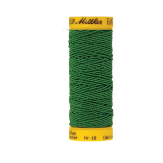 Mettler Elastic Sewing Thread Green (10m)