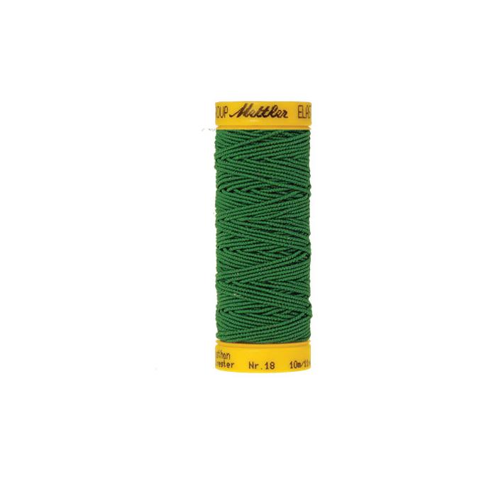 Mettler Elastic Sewing Thread Green (10m)