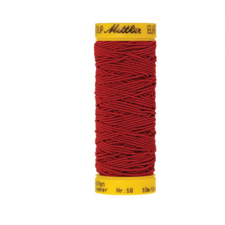 Mettler Elastic Sewing Thread Red (10m)
