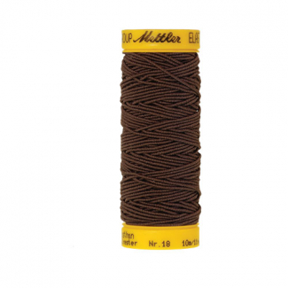 Mettler Elastic Sewing Thread Brown (10m)