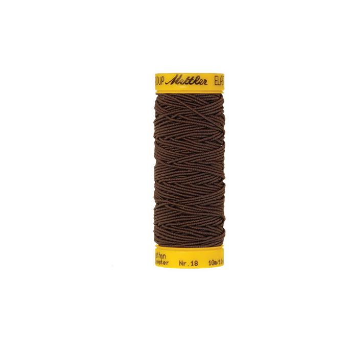 Fil à coudre élastique Mettler 1000m Marron (10m)