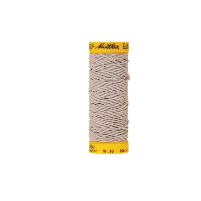 Fil à coudre élastique Mettler 1000m Gris Clair (10m)
