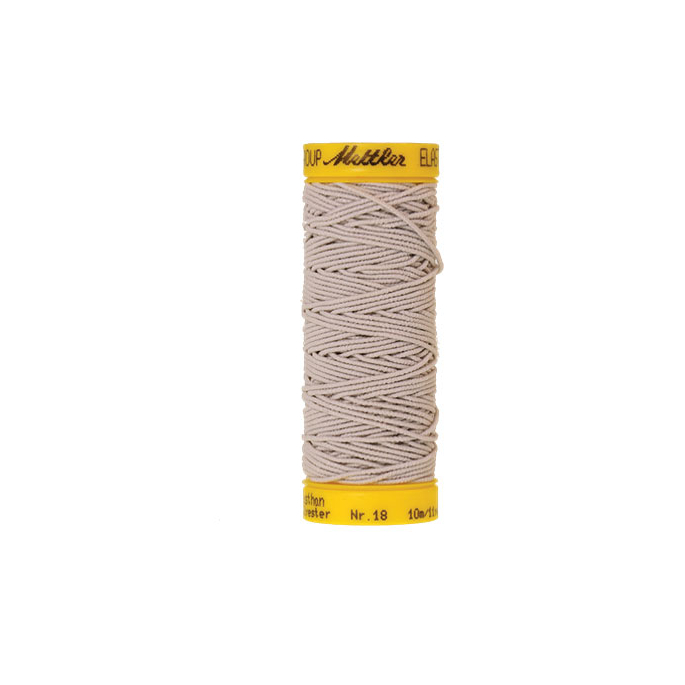 Mettler Elastic Sewing Thread Light Grey (10m)