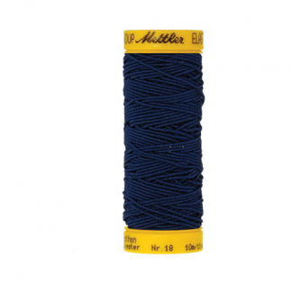 Mettler Elastic Sewing Thread Navy Blue (10m)