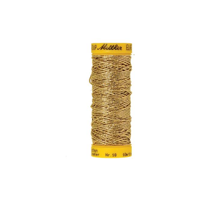 Fil à coudre élastique Mettler 1000m Doré (10m)