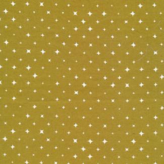 Organic cotton print Ember Gold Stars Cloud9