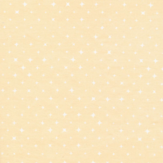 Organic cotton print Dew Light Pink Stars Cloud9 (per 10cm)