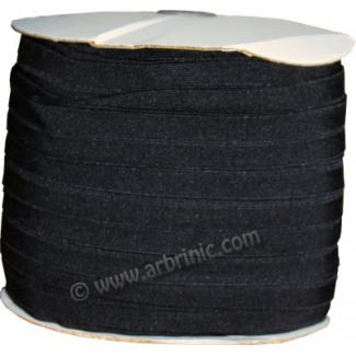 Biais élastique 2.5cm Noir (Bobine 100m)