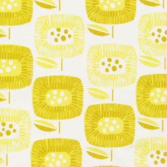 Organic cotton Canvas Around the Block Yellow Cloud9