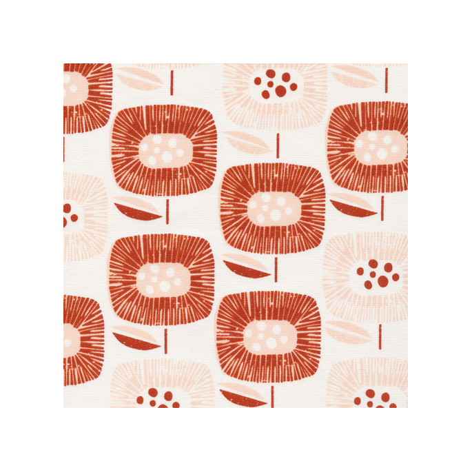 Organic cotton Canvas Around the Block Red Cloud9