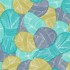 Organic cotton Broadcloth Wound Up Yarnies Blue Cloud9 (per 10cm