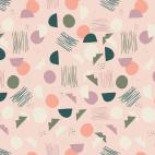 Organic cotton print Hello Ollie Village Tundra Tubers (per 10c