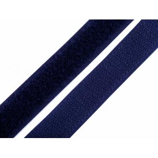 Scratch 3.0cm BOUCLE et CROCHET Bleu Marine (au mètre)