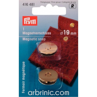 Magnetic Button 19mm Gold
