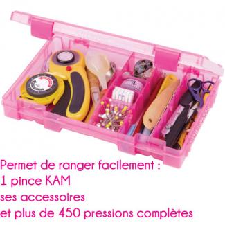 Boîte rangement pour pince KAM - rose