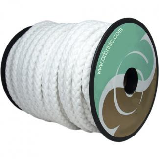 Cordon de Cérémonie blanc 100% coton 10mm (bobine 25m)