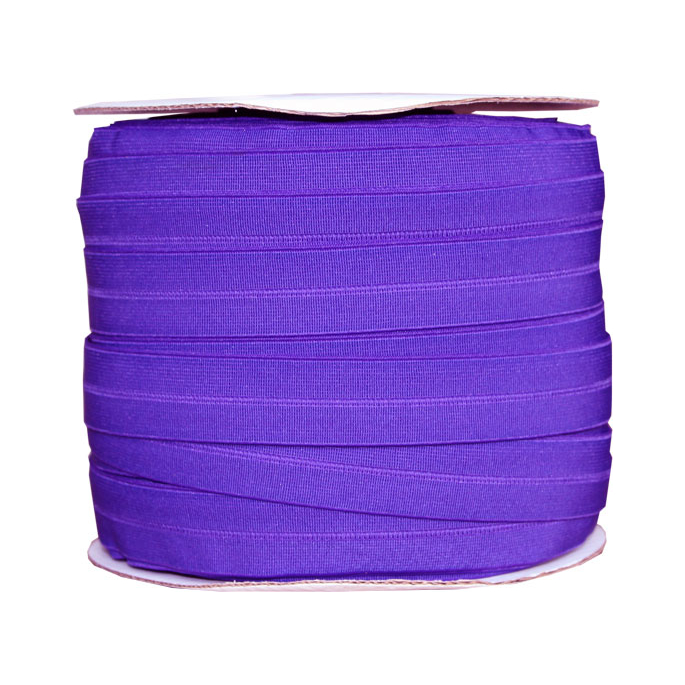 Fold Over Elastic 1 inch Purple (100m roll)