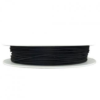 Elastique rond à chapeau Noir (bobine 100m)