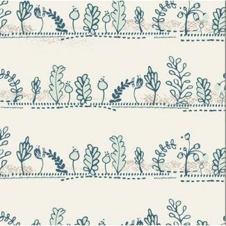 Coton imprimé Heartland Dulcet Paths Mist Art Gallery (par 10cm)