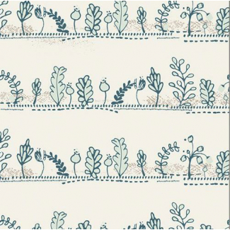 Cotton print Heartland Dulcet Paths Mist Art Gallery (per 10cm)