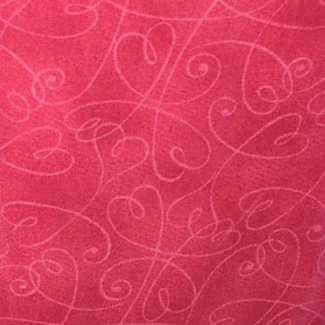 Coton imprimé Pink Swirl Hearts (par 10cm)
