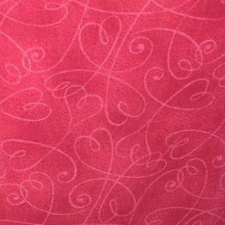 Cotton print Pink Swirl Hearts (per 10cm)