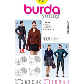 Burda Young 7140 Patron Veste Femme
