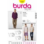 Burda Style 7525 Patron Chemises Homme