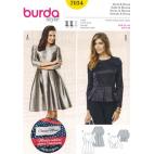 Burda Style 7034 Patron Robe et Blouse