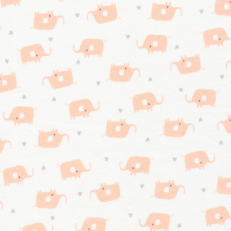 Organic cotton Interlock Tout Petit Elephants Cloud9 (per 10cm)