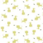 Organic cotton Interlock Tout Petit Kittens Cloud9 (per 10cm)