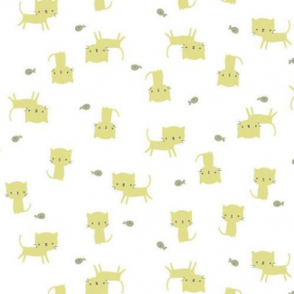Organic cotton Interlock Tout Petit Kittens Cloud9 (per 10cm)
