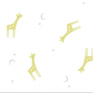 Organic cotton Swaddle Tout Petit Giraffes Cloud9 (per 10cm)