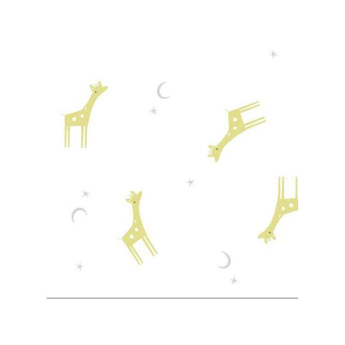 Coton Bio Lange Tout Petit Giraffes Cloud9 (par 10cm)