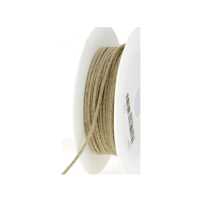 Cordon 100% lin 3mm (bobine 50m)