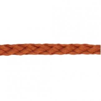 Cordon Anorak tresse plate 5mm Marron (bobine 50m)