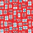 Organic cotton print Noel Gift Geometry Cloud9 (per 10c