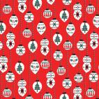 Organic cotton print Noel Christmas Balls Cloud9 (per 10c