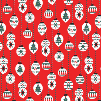 Organic cotton print Noel Christmas Balls Cloud9