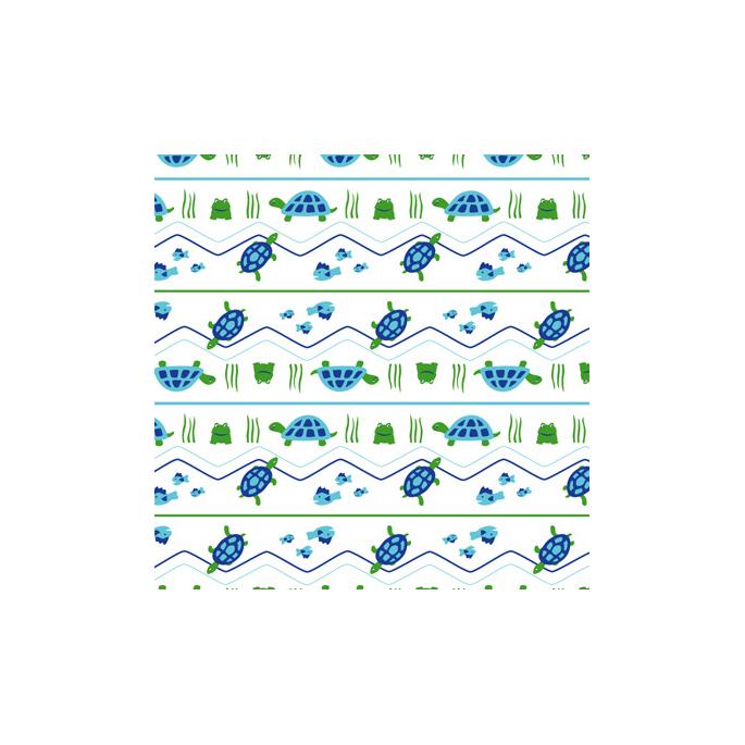 PUL poly print Turtles width 140cm (per 10cm)