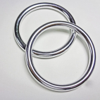 Sling Rings Shinny Silver Size L (1 pair)