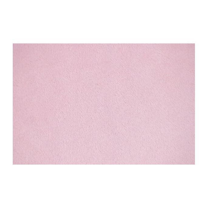 Minky Rose Clair laize 145/150cm (au mètre)