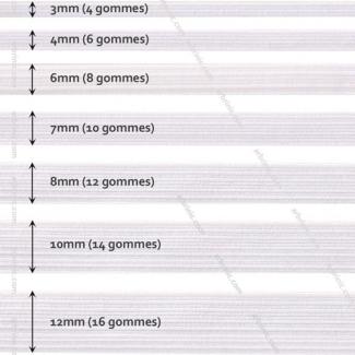 Elastique Tressé 7mm 10 gommes Blanc (bobine 50m)
