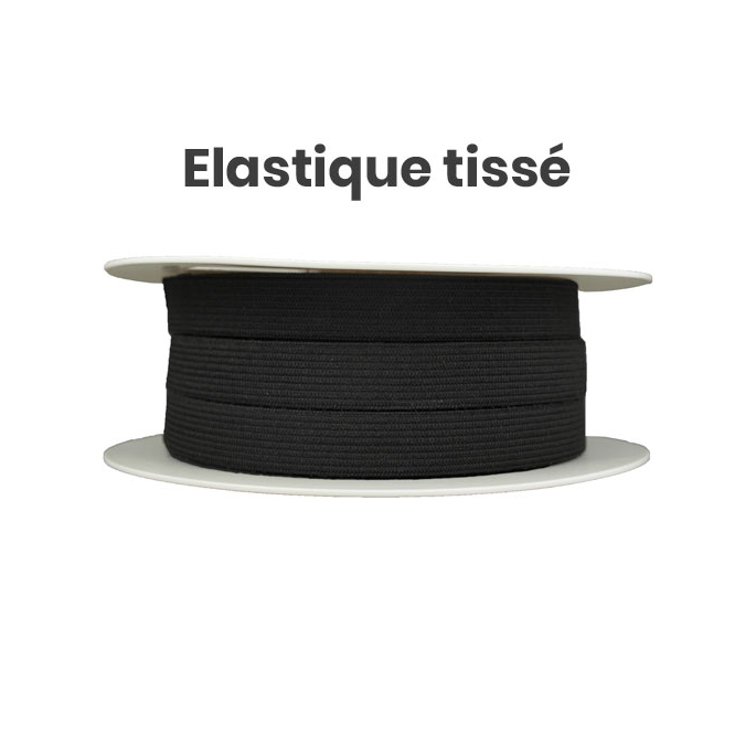 Woven Elastic Black 11mm (25m roll)