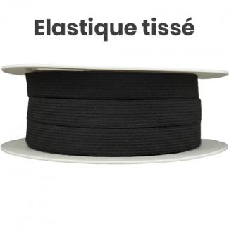 Elastique Tissé 15mm Noir (bobine 25m)