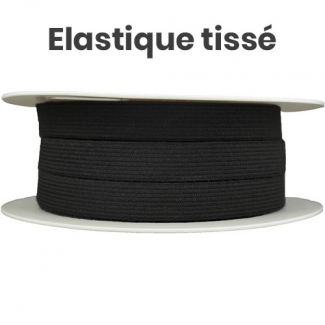 Woven Elastic Black 15mm (25m roll)