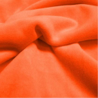 Velours cotton Oekotex Orange (by meter)