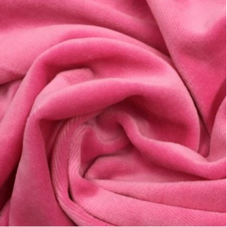 Velours cotton Oekotex Bubblegum (by meter)